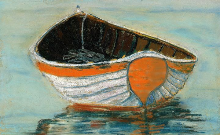 Boat by Grace Fong - Wineries & Landscapes by Grace Fong