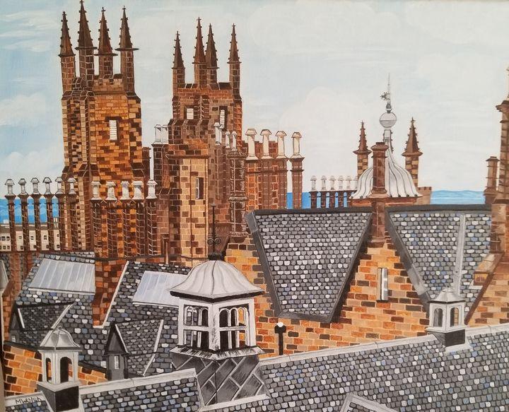 Edinburgh skyline. - Marilyn Welsh