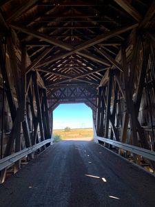 Covered bridge in Nova Scotia Canada