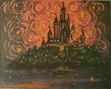 Tangled castle as starry night