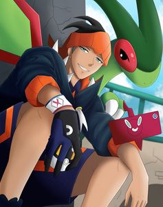 Raihan and flygon (pokemon)