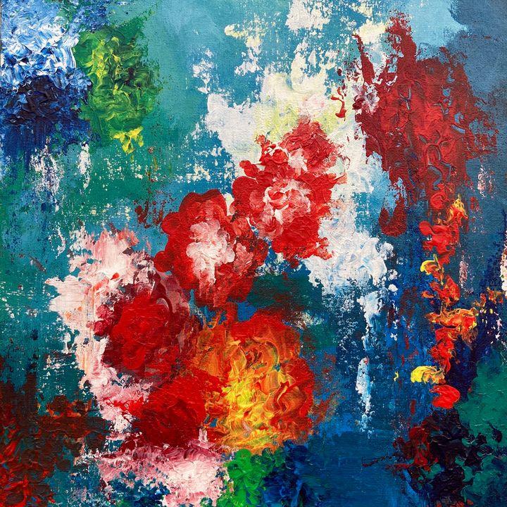 Flowers by the Waterfall - Anushree Tiwari