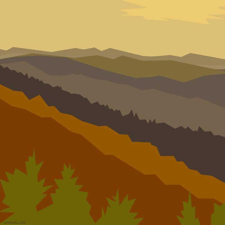 Asheville Mountains 1 - John Churchill