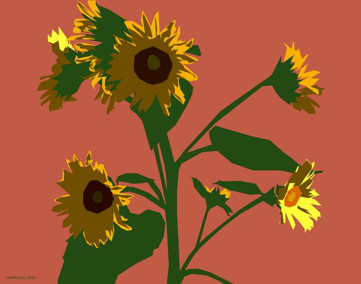 Sunflowers 1 - John Churchill