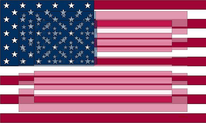 Three Layered Flag - David Bridburg