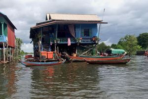 Home upon Tonle Sap Lake Cambodia - RCRayner