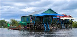 Kamplon Phluk Village floating store