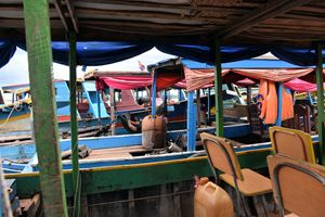 Tonle Sap lake tour boats