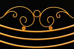 yellow fence ornamental elements on