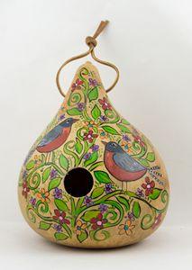 Gourd Birdhouse Robins
