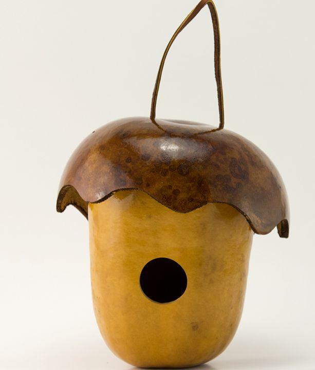 Acorn Gourd Birdhouse - Gourdaments by Devon Cameron in Middletown, NY