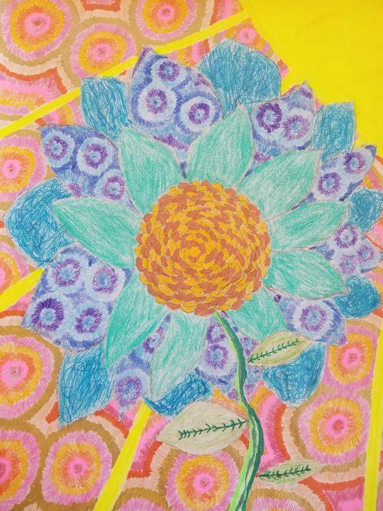 Flower in the Sun - Swirls of Drawings