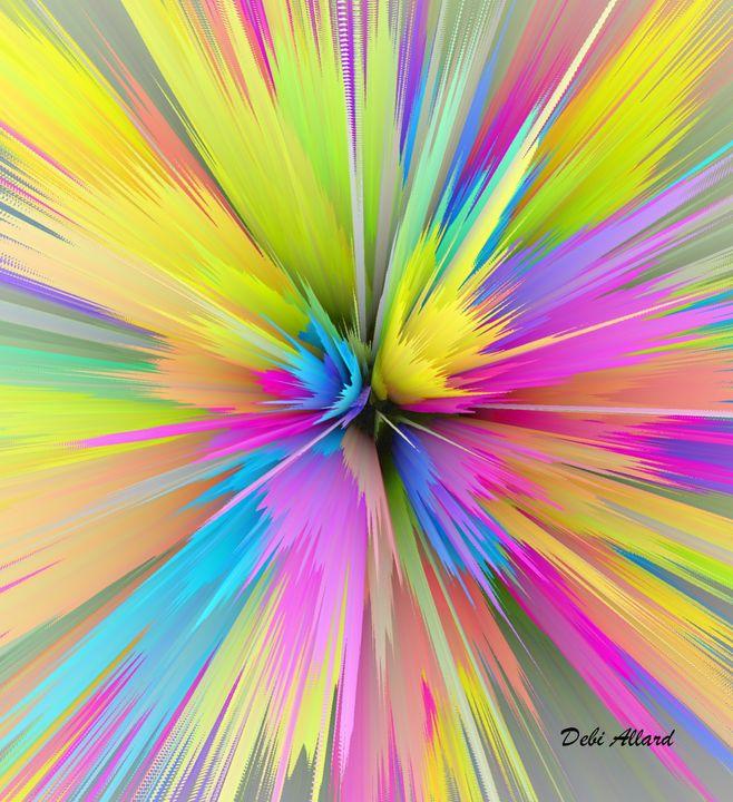 Rainbow Rose - Debi Allard Art