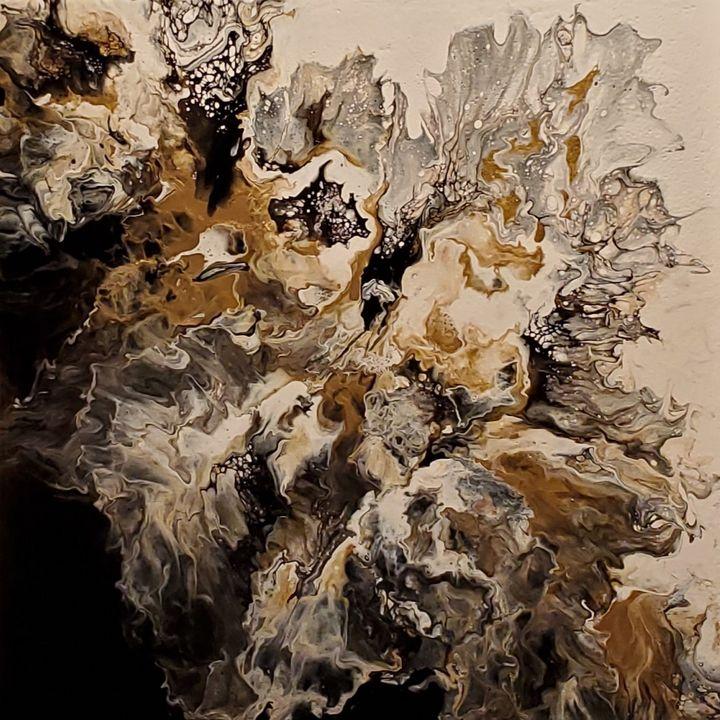 Shimmering Flowers - Debi Allard Art