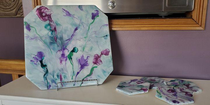 Wildflower Garden Trivet/Coaster Set - Debi Allard Art
