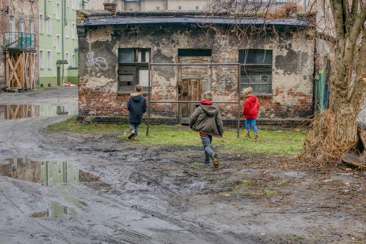 boys in the old yard - Jarek Witkowski gallery