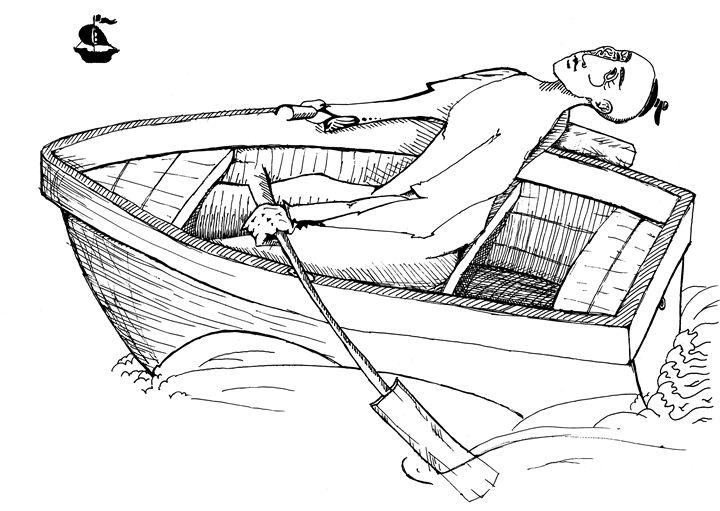 Illicit rowing - Dimage Sapelkin