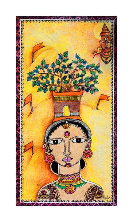 Varkari - A Pilgrim Lady - F 3 : Fusion of Fine and Folk
