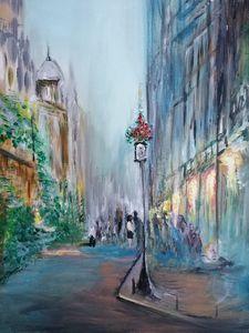 Paris street scene - Blue Can Fine Art