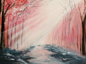 Cherry Blossom Forest