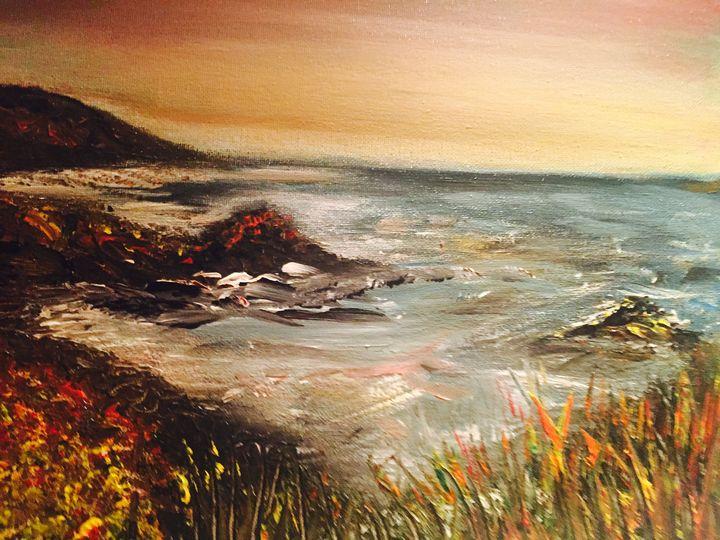 Devon Coast at Sunset - Blue Can Fine Art