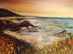 Devon Coast at Sunset