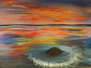 Druids Sunset - Blue Can Fine Art