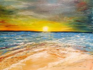 A Cornish Sunset - Blue Can Fine Art