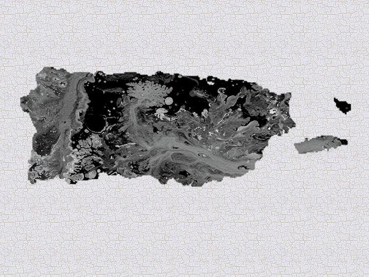 Black and White Art Puerto Rico Map - Saribelle Inspirational Art