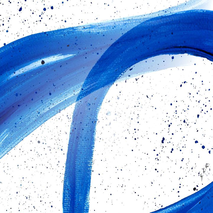 Abstract Acrylic Painting Blues - Saribelle Inspirational Art