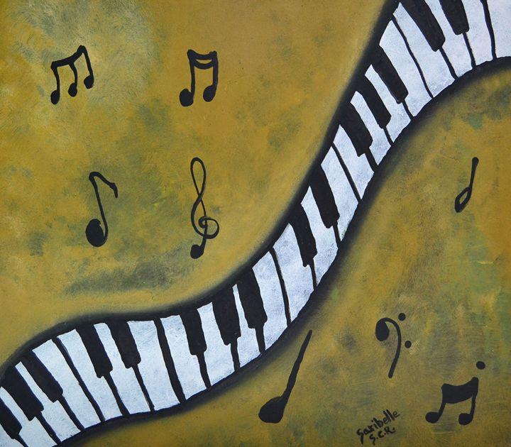 Piano Music Abstract Art By Saribell - Saribelle Inspirational Art