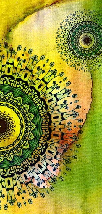 Abstract Acrylic Art The Garden - Saribelle Inspirational Art