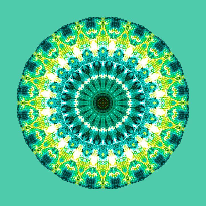 Green Yellow mandala - Saribelle Inspirational Art