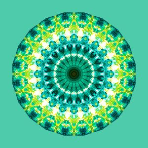 Green Yellow mandala