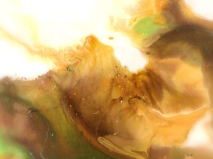 Abstract Acrylic Painting FANTASY - Saribelle Inspirational Art