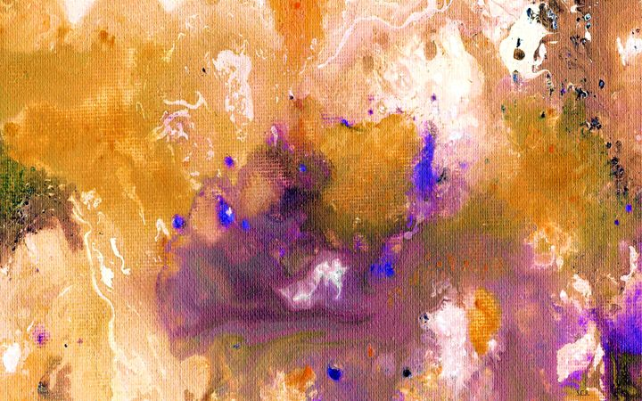 Abstract Acrylic Painting Purple Can - Saribelle Inspirational Art