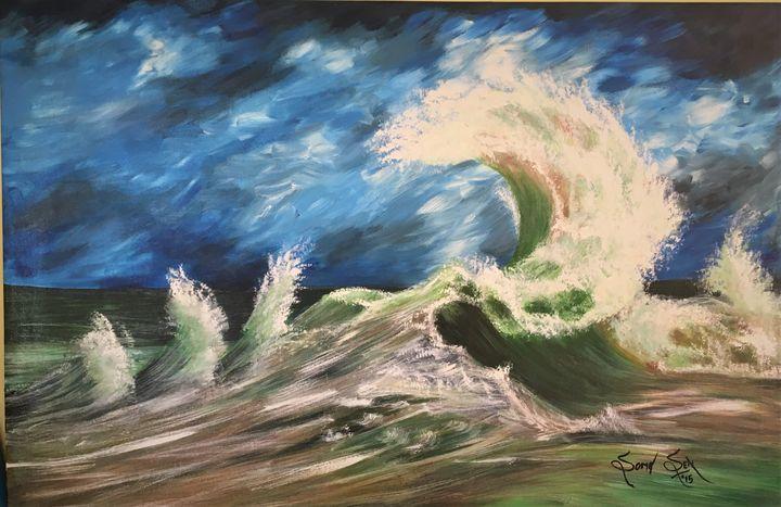 Dancing Wave - Soma Sen Art
