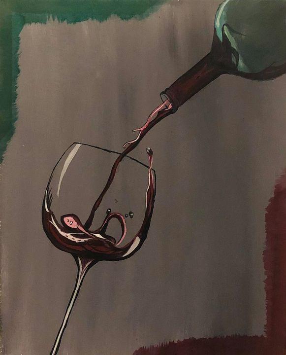 Wine Pouring - Deepak's Art