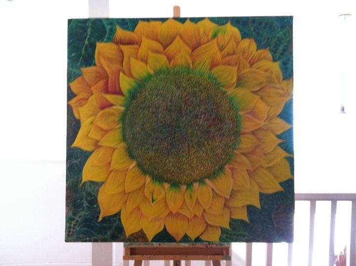 SUN FLOWER 2 - http://naturemodernart.com