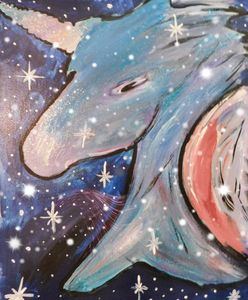 galaxy unicorn - Painting for love