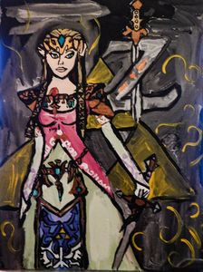 zelda - Painting for love