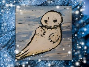 baby harp seal - Painting for love