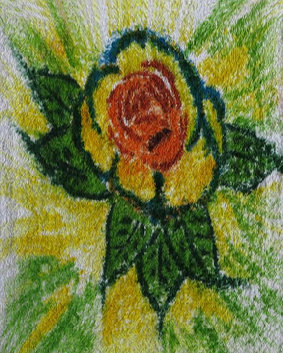 Flower on Washcloth - TimPeterson