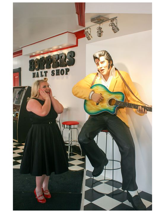 Elvis Fans - Glass Photography by Alison