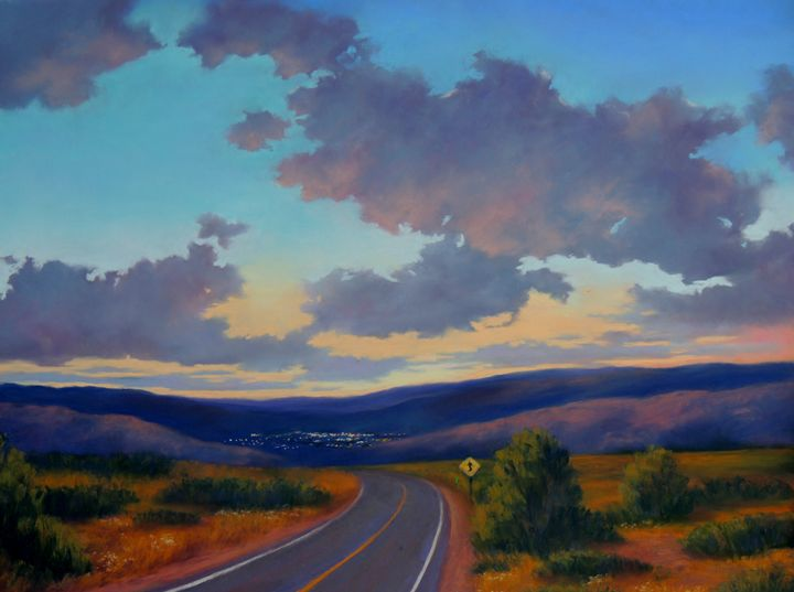 city lights ahead - candice ferguson fine art
