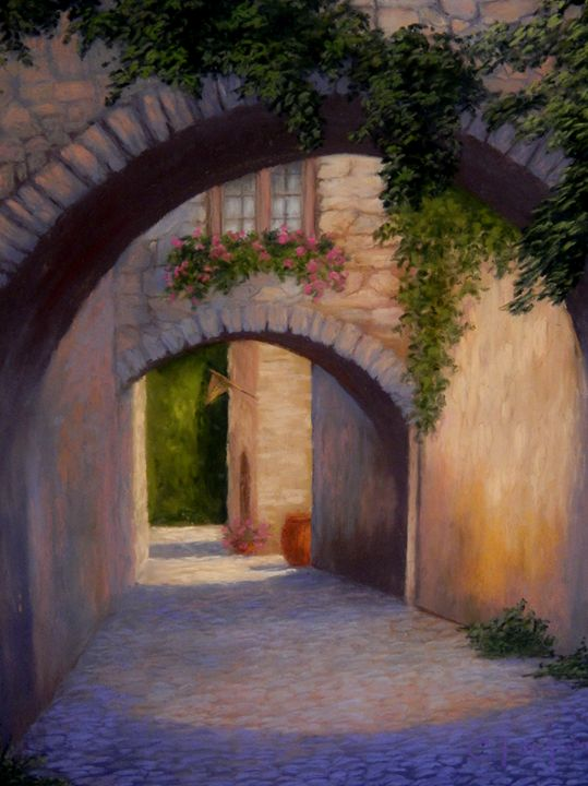 French village - candice ferguson fine art