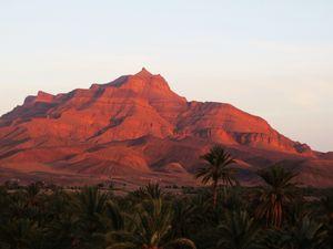 Coucher de soleil au Sud du Maroc