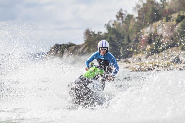 Retro Jetski rider - Inglund Photography