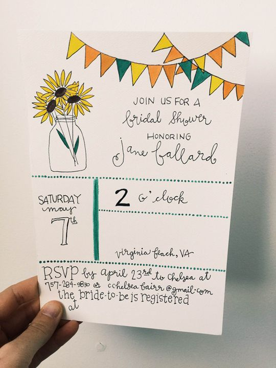 Bridal Shower Invite (can be custom) - Chelsea Bair