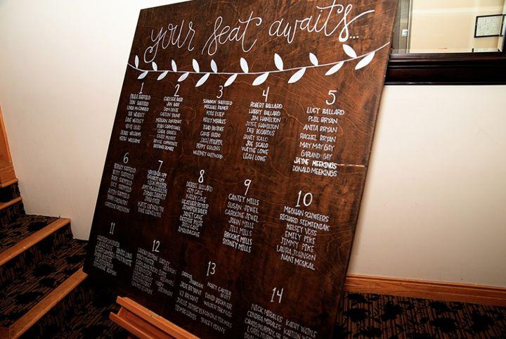Wedding Seating Chart - Chelsea Bair